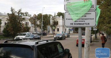 В центре Казани на ряде улиц стоимость платных парковок поднимут до 100 рублей в час