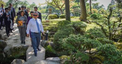 Рустам Минниханов в Японии посетил знаменитые парки Канадзавы