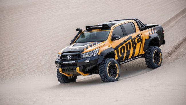 Toyota, совместно с производителем игрушек Tonka, построили полноразмерный пикап