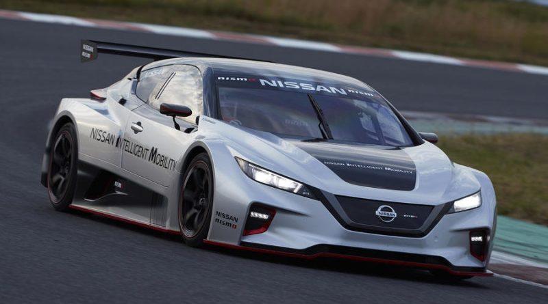 Nissan построил трековую версию электромобиля Leaf второго поколения