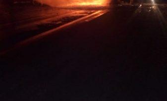 Огненное столкновение грузовиков в Татарстане: есть погибший