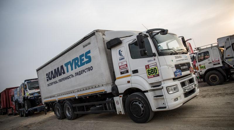 Автомобили технического сопровождения «КАМАЗ-мастер» укомплектованы шинами производства KAMA TYRES