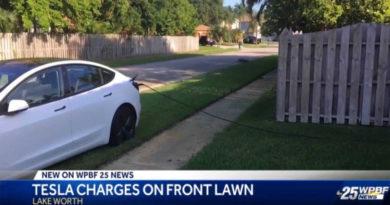 В США водитель воровал электричество для своей Tesla