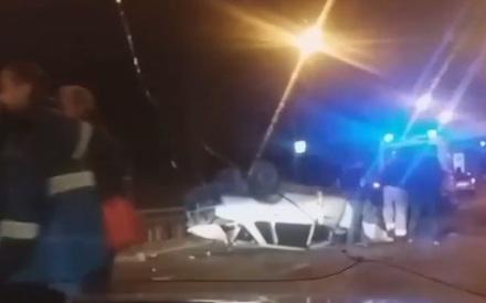 «Перевертыш» на Горьковском шоссе: пьяный водитель вылетел из салона