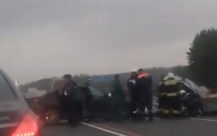 Страшная авария на трассе в РТ: легковушка и УАЗ столкнулись лоб в лоб