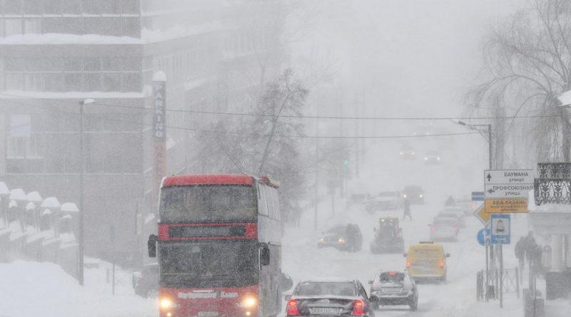 Метель, мокрый снег и гололед прогнозируют синоптики казанцам