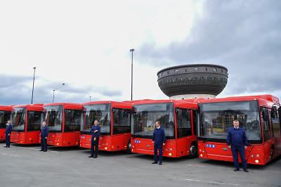 Казань получила 30 автобусов на природном газе