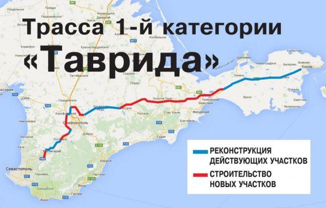 В Крыму названа дата запуска движения по трассе