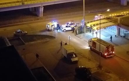 В Казани легковушка по время погони влетела во входную группу метро