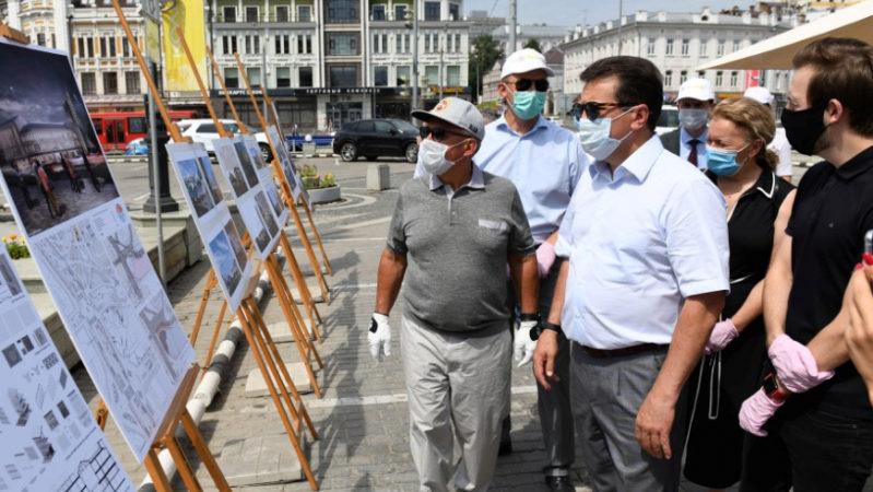 Р.Минниханов ознакомился с ходом реконструкции и реставрации значимых объектов в историческом центре Казани