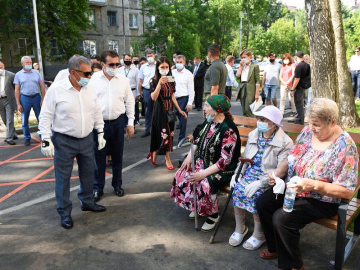 Р.Минниханов и И.Метшин ознакомились с первыми результатами программы «Наш двор»