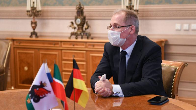 Ильсур Метшин встретился с Почетным консулом Германии в Казани Арно Шайером