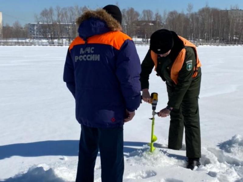 На озере Нижний Кабан в Казани пробурили 100 лунок для восстановления кислородного баланса
