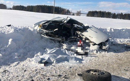 Опубликовано видео с места аварии в Татарстане, где разбилась женщина с двумя детьми