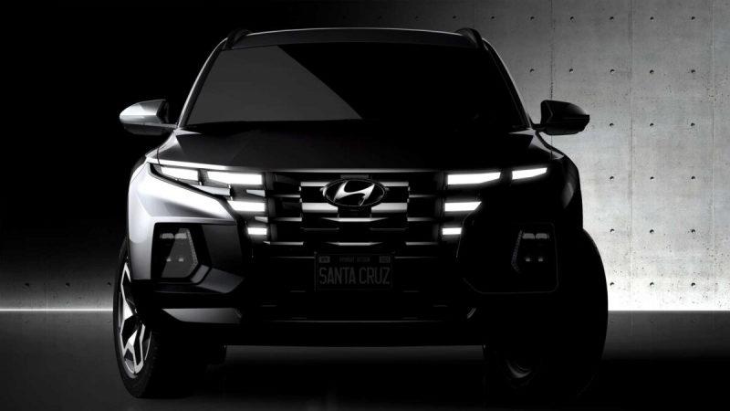 Hyundai опубликовал официальные тизеры пикапа Santa Cruz 2022
