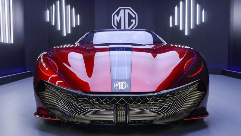 Разгон до 100 км/ч менее чем за 3 секунды: официально рассекречен новый MG Cyberster незадолго до презентации