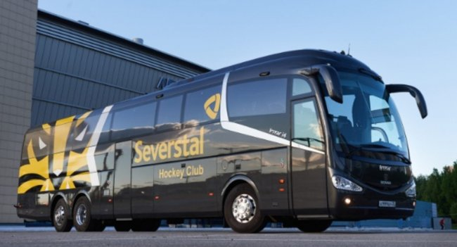 Автобус Scania Irizar I6 для ХК «Северсталь»