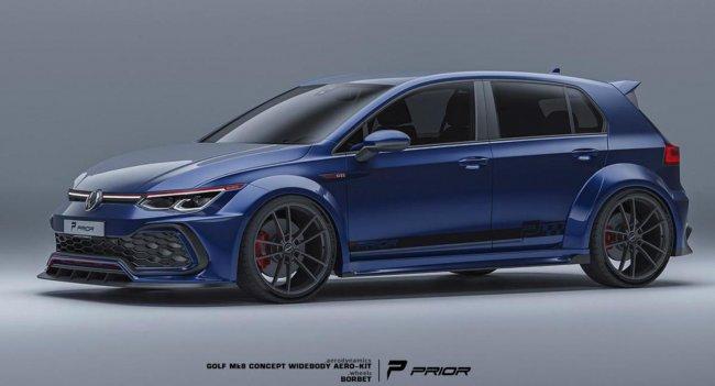 Volkswagen Golf GTI Mk7 2022 года получил агрессивный обвес от фирмы Prior Design