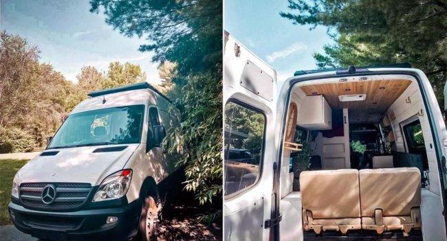 Из Mercedes-Benz Sprinter сделали уютный кемпер с трехъярусной кроватью