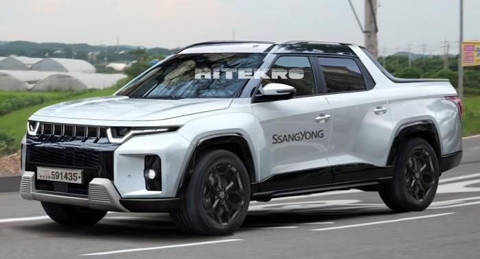 Новый пикап SsangYong J100 2022 показали на первых фото