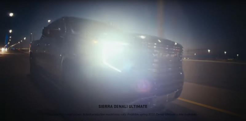 Опубликованы новые тизеры GMC Sierra 1500 2022