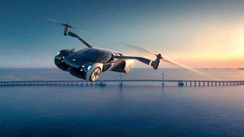 В сети показали новый летающий автомобиль HT Aero 2024
